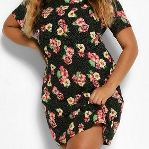 Boohoo NEW w Tags Floral Shift Dress